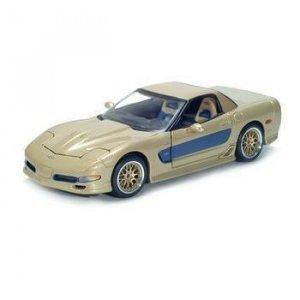 Maisto 2003 Chevrolet Corvette Culdstrand Edition - Gold - 1/18 Diecast Model