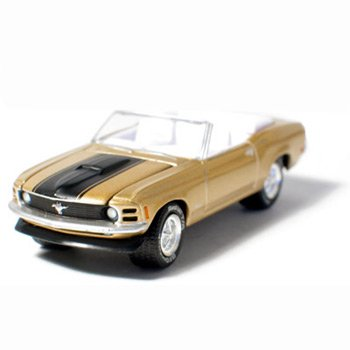 1970 Mustang Convertible Med. Gold Metallic 1/64 Car Muscle Car Garage Series By GreenLight