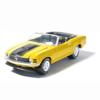 1970 Mustang Convertible Grabber Orange 1/64 Car Muscle Car Garage Series By GreenLight