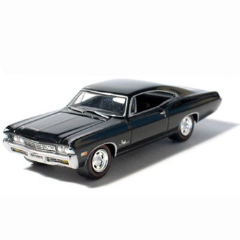 1968 Chevy Impala SS Tuxedo Black 1/64 Car Muscle Car Garage Series
