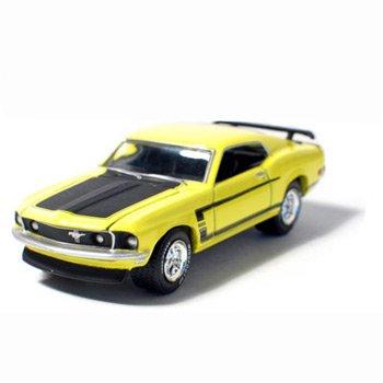 1969 Mustang Boss 302 Grabber Yellow 1/64 Car Muscle Car Garage Series