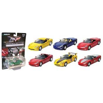 2005 C6 Corvette 1/64 Assortment Case of 12 By GreenLight