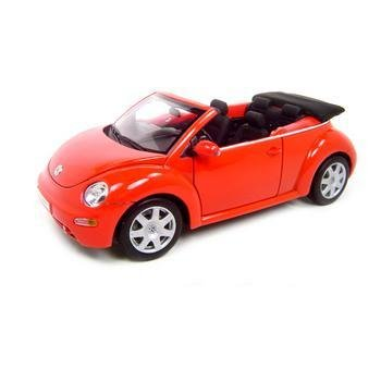 Welly Volkswagen New Beetle VW Convertible Red 1:18 Diecast Model