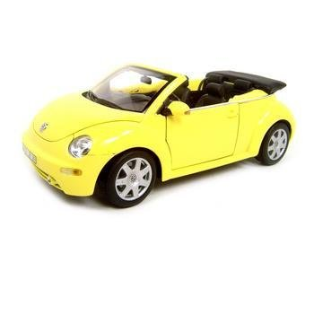 Welly Volkswagen New Beetle VW Convertible Yellow 1:18 Diecast Model
