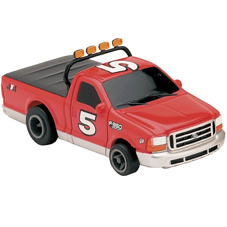 Ford F-350 Truck-Red Electric Racing Slot Car Life-Like Products -433-9794