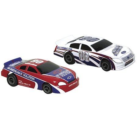 NASCAR Twin Pack Ford vs. Chevy Electric Slot Cars Life-Like Products -433-9040