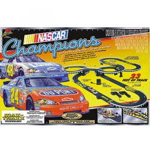 NASCAR Champions Electric Slot Car Racing Set Life-Like Products -433-9010