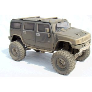Gunmetal Gray H2 Hummer 1/24 Diecast SUV -Dusty Version