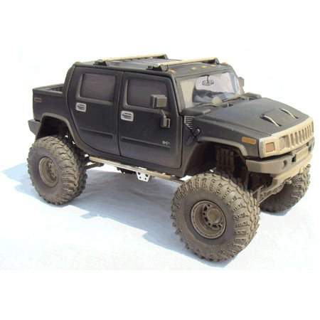 Black H2 Hummer 1/24 Diecast SUT -Dusty Version
