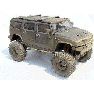 Gunmetal Gray H2 Hummer 1/24 Diecast SUV -Extreme Boggin' Version
