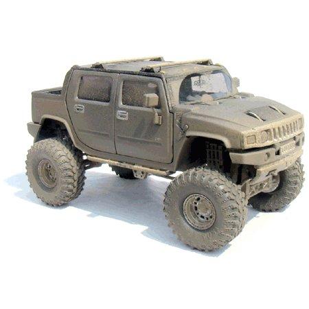 Gunmetal Gray H2 Hummer 1/24 Diecast SUT  -Extreme Boggin' Version