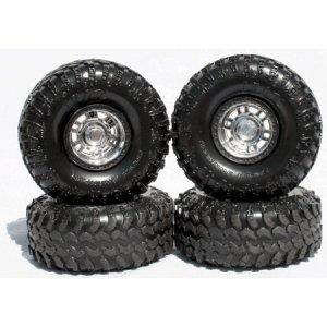 "Universal IROK Super Swampers ""Stealth Black"" 1/24 Tire Set"