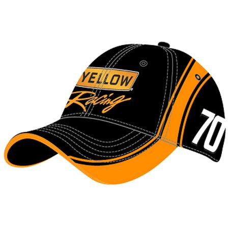 "#70 Johnny Sauter ""Yellow Racing"" Team Race Hat Checkered Flag Sports"