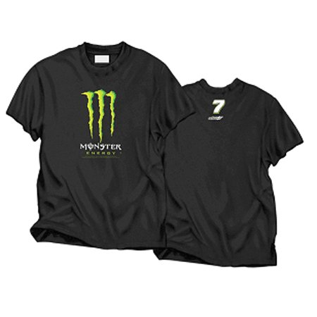 #7 Robby Gordon Monster Logo Black Tee
