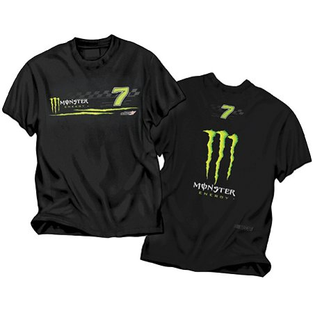 #7 Robby Gordon Front/Back Black Monster Tee