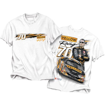 #7 Robby Gordon Front/Back White Monster Tee