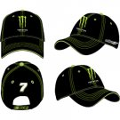 #7 Robby Gordon Black Monster Logo Hat Checkered Flag Sports