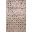 Rich Floral Brocade with Powder Blue Background Hand-Woven in Banaras