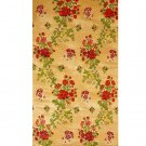 Flax-Yellow Background Hand-woven Floral Brocade