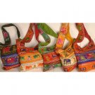Lot of Five Bags with Mirrors and Embroidered Elephants
