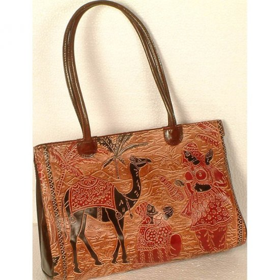 Arabian Desert Scene on a Shantinekatan Bag