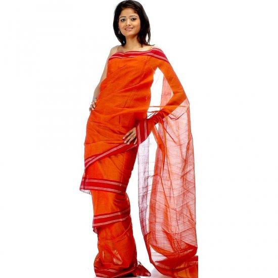 Rust Bharatnatyam Sari