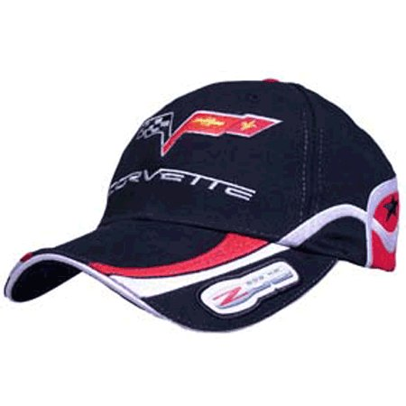 Corvette C6 Z06 505 HP Highly Detailed Embroidered Cap BLACK