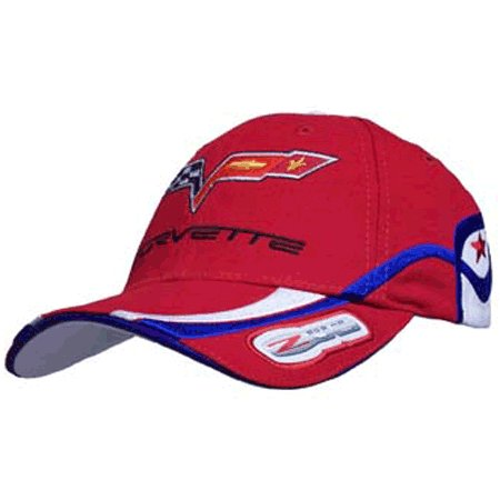 Corvette C6 Z06 505 HP Highly Detailed Embroidered Cap RED