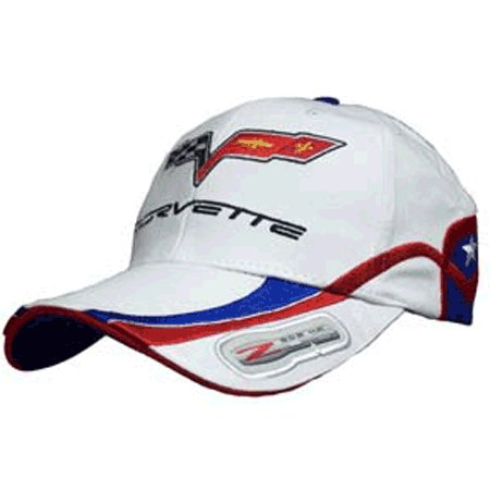 Corvette C6 Z06 505 HP Highly Detailed Embroidered Cap WHITE