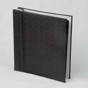 Silk Covered Photo Album - Black