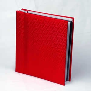 Silk Covered Photo Album - Red