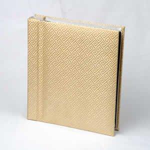 Silk Covered Photo Album - Gold