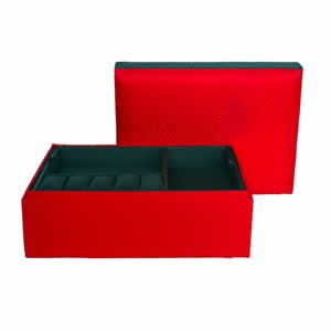 Clark Jewelry Box - Red