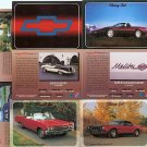CHEVY CHEVROLET COLLECTOR CAR CARDS SET CAMARO IMPALA CHEVELLE MONTE CARLO BEL AIR