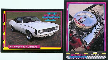 1969 69 BERGER 427 CHEVY CHEVROLET CAMARO KING OF THE HILL COLLECTOR RARE COLLECTIBLE CARD COPO