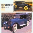 1917 17 CHEVY CHEVROLET SERIES D TOURING SEDAN COLLECTOR CARD COLLECTIBLE NICE