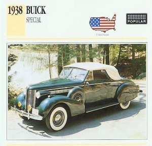 1938 38 BUICK SPECIAL CONVERTIBLE COUPE