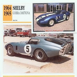 1964 64 1965 65 FORD SHELBY DAYTONA 289 COLLECTOR