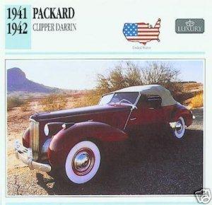 1941 41 1942 42 PACKARD CLIPPER DARRIN CONVERTIBLE