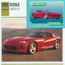 1992 92 DODGE VIPER RT/10 488 CU IN V10 ROADSTER