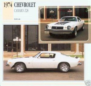 1974 74 CHEVY CAMARO Z-28 Z28 350 5.7L COLLECTOR