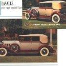 1930 30 LASALLE FLEETWOOD FLEETWAY COLLECTIBLE