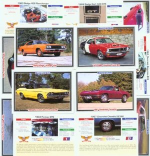MUSCLECARDS CLASSIC COLLECTOR CAR CARDS MUSCLECARS