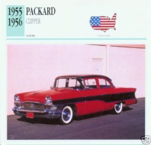 1956 56 PACKARD CLIPPER SEDAN COLLECTOR COLLECTIBLE