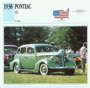 1938 38 PONTIAC SIX COLLECTOR COLLECTIBLE
