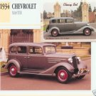 1934 34 CHEVROLET CHEVY MASTER SERIES DA SEDAN