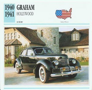 1940 40 1941 41 GRAHAM HOLLYWOOD COLLECTOR