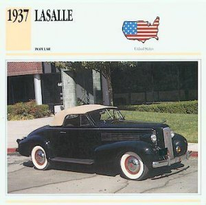 1937 37 LASALLE CONVERTIBLE COUPE COLLECTOR
