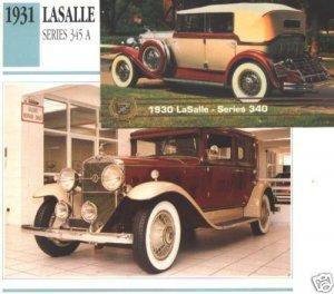 1931 31 LASALLE SERIES 345 A SEDAN COLLECTIBLE