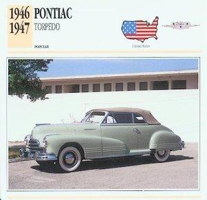 1946 46 1947 47 PONTIAC TORPEDO COLLECTOR COLLECTIBLE
